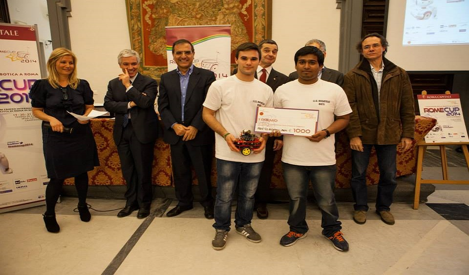 Il Rosatelli primo classificato alla gara Robot Explorer Senior (2014)